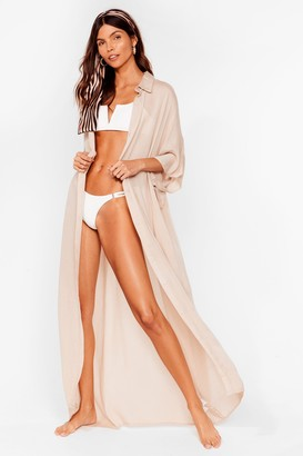Nasty Gal Womens Here Comes the Sun Maxi Cover Up Dress - Beige - 6, Beige