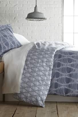 Ultrasoft Southshore Fine Linens Queen Premium Collection Ultra-Soft Modern Printed 4-Piece Sheet Set - Abstract Blue Haze