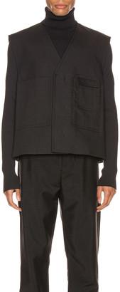 Jil Sander Cotton Twill Vest in Black | FWRD