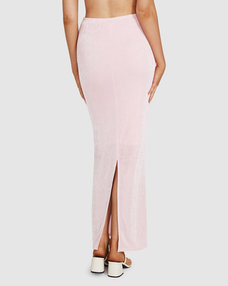 Don't Ask Amanda Misty Slinky Knit Maxi Skirt