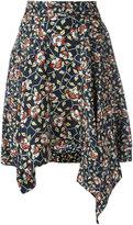 Isabel Marant asymmetric floral print skirt - women - Silk - 36