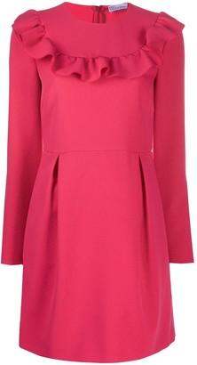 RED Valentino Ruffle-Detail Long-Sleeve Dress
