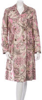 Dries Van Noten Silk Jacquard Coat
