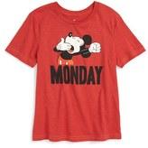 JEM Boy's Mickey Mouse Monday Graphic T-Shirt