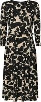 Wallis **TALL Monochrome Animal Print Midi Dress