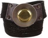 Diane von Furstenberg Black Canvas Belt