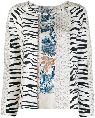 Pierre Louis Mascia Printed Silk Blouse
