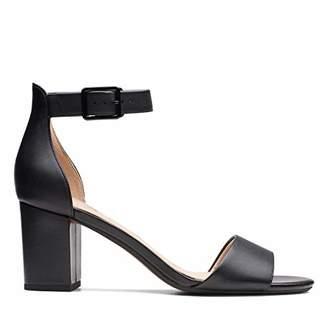 Clarks Deva Mae, Women's Ankle-Strap Ankle Strap Heels, Black (Black Leather -), (38 EU)