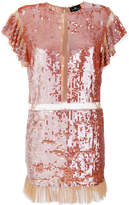 Elisabetta Franchi ruffled sequin dress