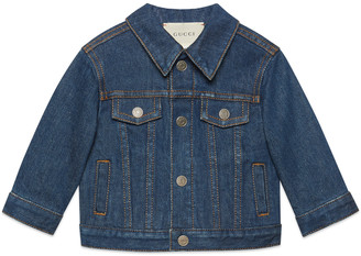 Gucci Baby denim jacket with logo