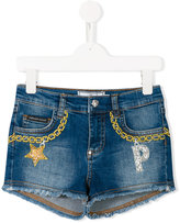 Philipp Plein Lollipop denim shorts - kids - Cotton/Spandex/Elastane - 6 yrs