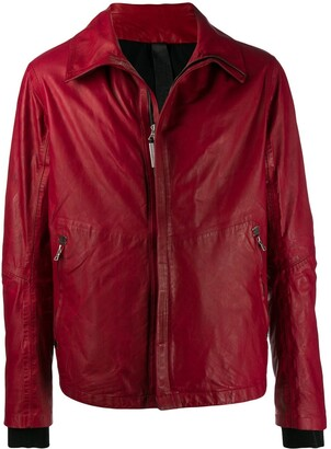 Isaac Sellam Experience Zip Front Leather Jacket