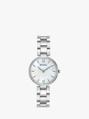 Bulova 96L229 Women's Classic Bracelet Strap Watch, Silver/Mother of Pearl