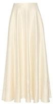 The Row Lea Wool-blend Cloqué Skirt
