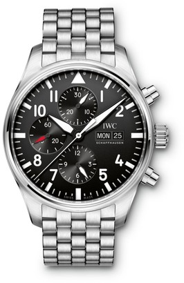 IWC Pilot Stainless Steel Bracelet Chronograph Watch