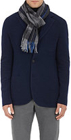 Barneys New York Men's Striped Camouflage Wool-Blend Scarf