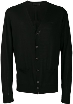 DSQUARED2 logo embroidered cardigan