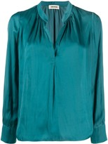 Zadig & Voltaire Tink crinkled effect blouse