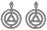 Jade Jagger Pyramid Earrings with Black Rhodium Plated Sterling Silver