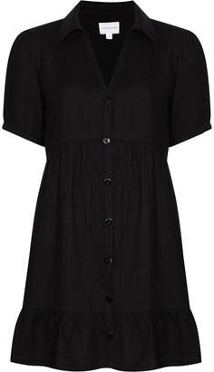 HONORINE V-neck linen mini dress