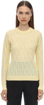 Fendi Logo Intarsia Knit Sweater