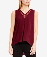 Vince Camuto High-Low Lace-Panel Top