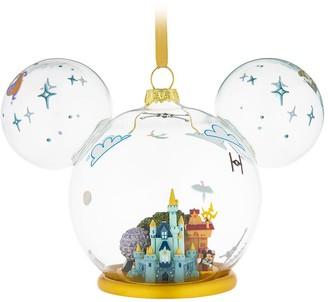 Disney Mickey Mouse Icon Walt World Glass Ornament