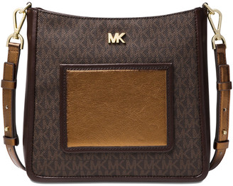 MICHAEL Michael Kors Signature Gloria Pocket Swing Leather Crossbody