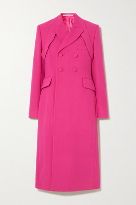 GmbH Samarium Belted Double-breasted Wool-crepe Coat - Pink