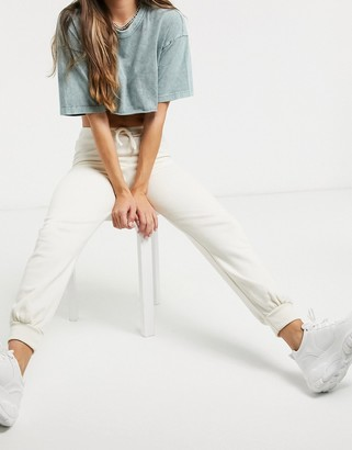 Skinnydip Skinny Dip track pants co-ord in cream