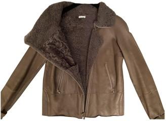 Brunello Cucinelli Beige Shearling Leather Jacket for Women