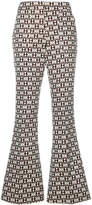 Giamba embroidered flared trousers