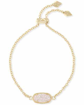 Kendra Scott Elaina Adjustable Chain Bracelet for Women Fashion Jewelry 14k Gold-Plated