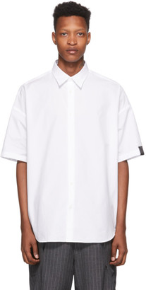 N.Hoolywood White Dropped Shoulder Shirt
