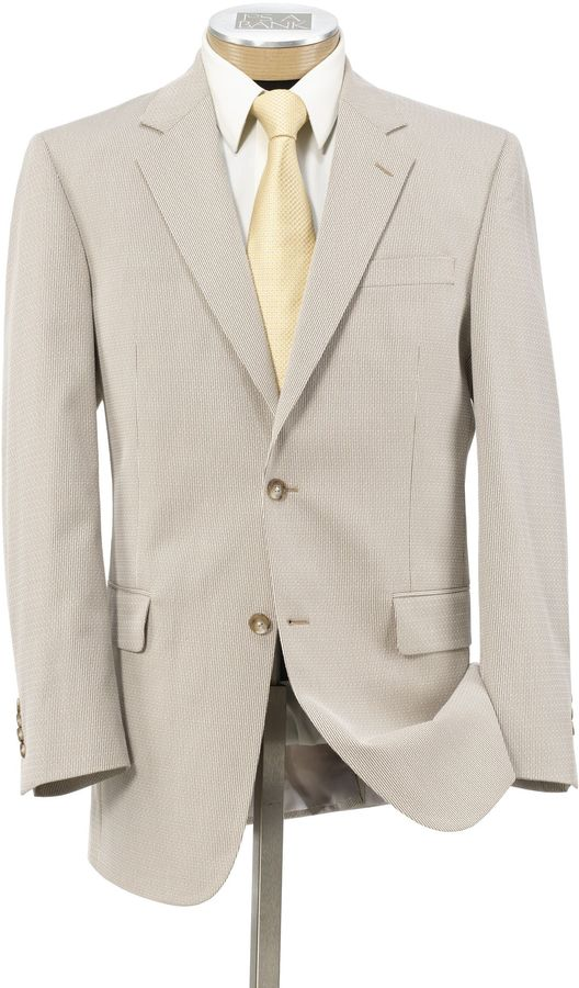 Jos. A. Bank Tropical Blend 2 Button Suit with Pleated Front Trousers