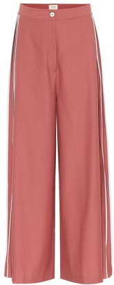 BODICE Pleated wide-leg wool pants