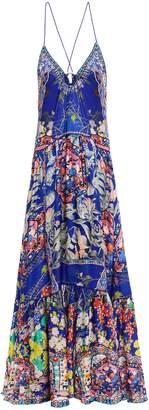 Camilla Saturn Sister Silk-jacquard Maxi Dress