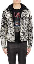 Balmain Men's Marble-Print Denim Jacket