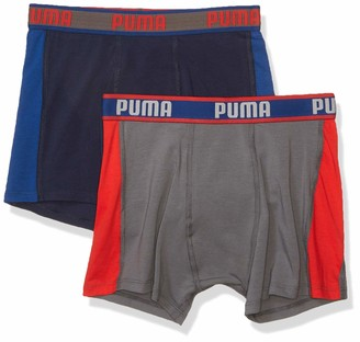 Puma Big Boys' 2 Pack Cotton Boxer Brief