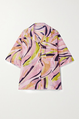 Emilio Pucci Oversized Printed Cotton And Silk-blend Shirt - Baby pink