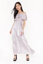 Womens Take It Off-the-Shoulder Maxi Dress - purple - 8