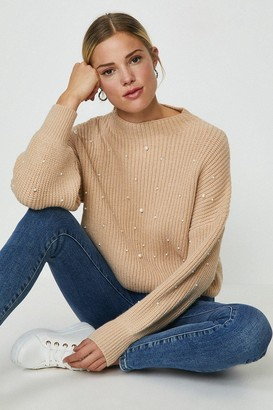 Coast Pearl Embellished Knitted Jumper