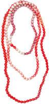 Elizabeth Gillett Long Print Silk Necklace