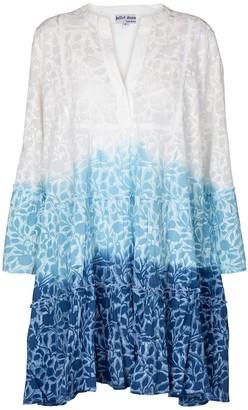 Juliet Dunn Ombre printed cotton minidress