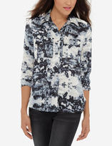 The Limited Eva Longoria Printed Button Down Shirt
