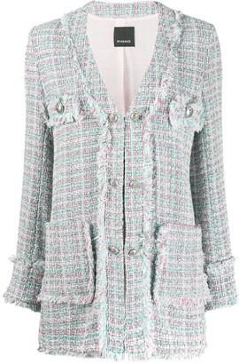 Pinko Button-Fastened Tweed Blazer