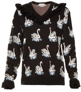 Stella McCartney Swan-jacquard wool sweater