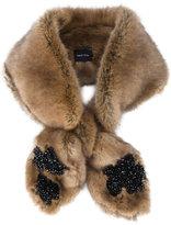 Simone Rocha beaded faux fur scarf