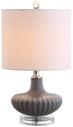 "Jonathan Y Designs Kamille 18"" Glass and Lucite Table Lamp, Gray"