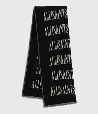 AllSaints Varsity Wool Blend Woven Scarf